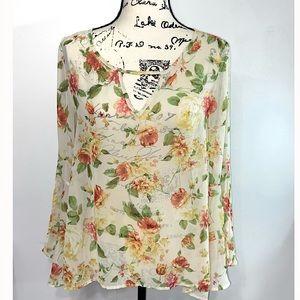 Audrey women's sheer blouse